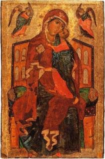 Figure 3. A large icon of Our Lady Tolga (so-called Tolgsky I or Tolga I), Yaroslavl, Russia, last quarter of the thirteenth century.