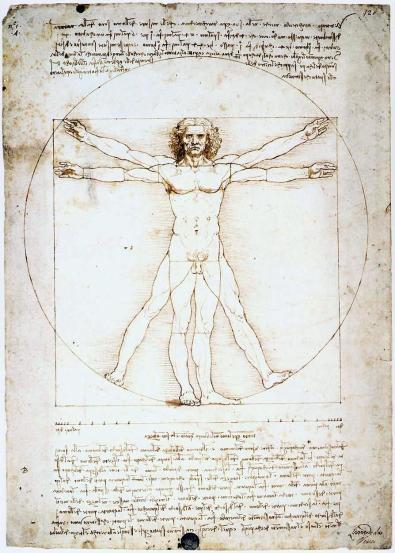 Leonardo da Vinci, Vitruvian Man, c. 1490.